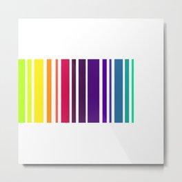 Code Rainbow Metal Print
