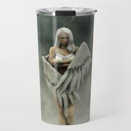 White divine angel Travel Mug