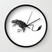 mouse Wall Clocks featuring Mouse by Rebexi