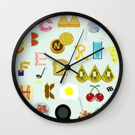 Food Font Wall Clock