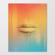 Data Kiss Canvas Print