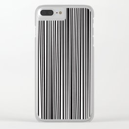 Simply small black and white handrawn stripes - vertical - Mix & Match with Simplicty of life Clear iPhone Case