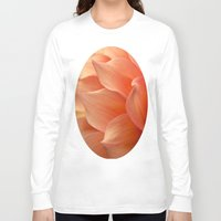 jewish Long Sleeve T-shirts featuring Gentle Petals by Brown Eyed Lady