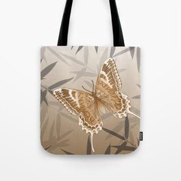 Beautiful Copper Butterfly Design Tote Bag