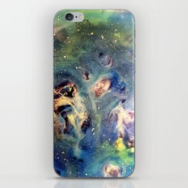 Constellation Dragon Abstract Watercolor Painting iPhone Skin