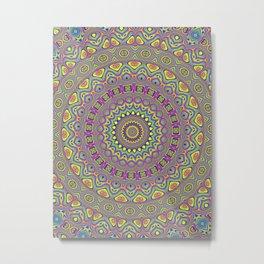 Acid Color Mandala Metal Print