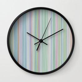 vintage fantasy pastel stripes Wall Clock