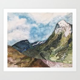 Marble, Colorado- Whitehouse and Sheep Mountains Art Print