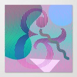 Moiré Ampersand Canvas Print