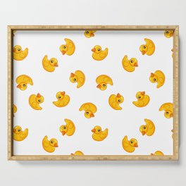 Rubber duck toy Serving Tray