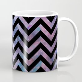 Modern abstract black pink blue violet chevron nebula Coffee Mug