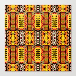 Ethnic African Inspired Pattern Canvas Print