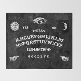 Black Ouija Throw Blanket