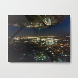 Night Skylight Flight Metal Print