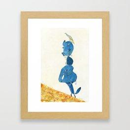 Up the hill we go! Framed Art Print