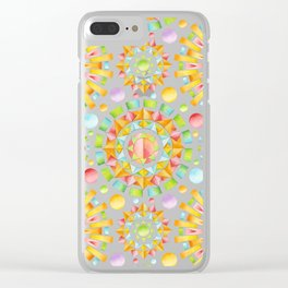 Fireworks Sorbet Clear iPhone Case