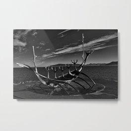 Sun Voyager B&W Metal Print