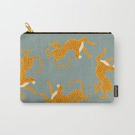 Leopard Race - blue Carry-All Pouch