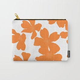 Primrose floral pattern in orange Carry-All Pouch