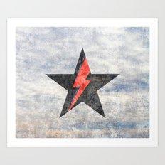 BlackStarMan (waiting in the sky) Art Print