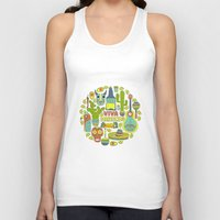 mexico Tank Tops featuring Viva Mexico by Favete Art