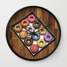 Box of Doughnuts Wall Clock