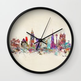 san antonio texas skyline Wall Clock