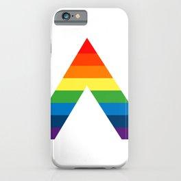 LGBT ALLY Rainbow Gay Pride Flag iPhone Case