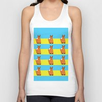 mr fox Tank Tops featuring Mr Fox by RoyaleWithCheese