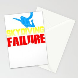 Skydiving Failure is Not an Option Skydiver Stationery Cards