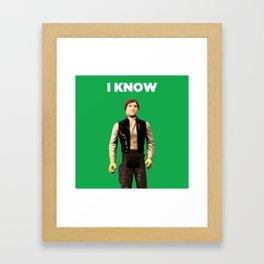 I Know - Han Framed Art Print