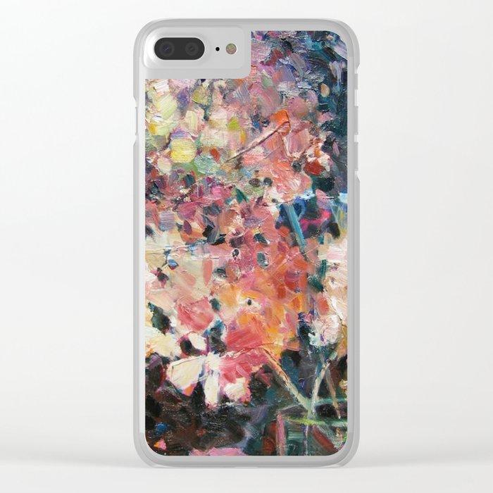 Hot Hydrangeas Clear iPhone Case