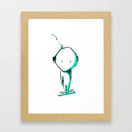 Cute alien Framed Art Print