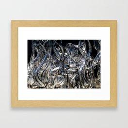 Wisps Glass Sculpture Framed Art Print