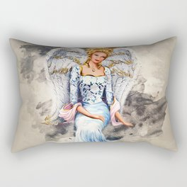 Blue Angel Rectangular Pillow