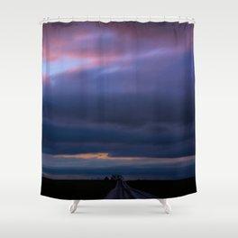 Dark Country Sunset Shower Curtain