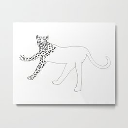 Half-dressed leopard Metal Print