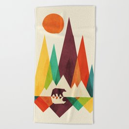 Bear In Whimsical Wild Beach Towel