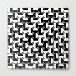 Geometric Circles Grey/Gray Metal Print