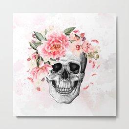 Beauty Skull Metal Print