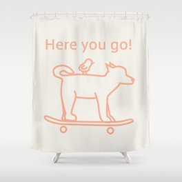 Shiba Dog -Orange- Shower Curtain