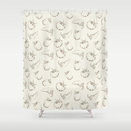 Vegetable pattern - beige. Shower Curtain