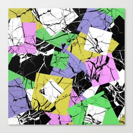 Pastel Marble Tiles Abstract Pattern Canvas Print