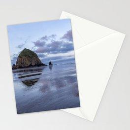 Haystack Rock at Low Tide in Early Morning Stationery Cards