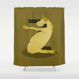 Monogram Z Pony Shower Curtain