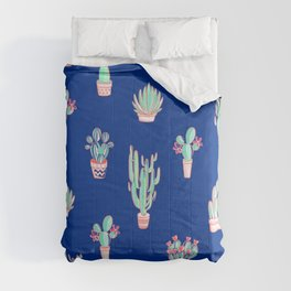 Little cactus pattern - Princess Blue Comforters
