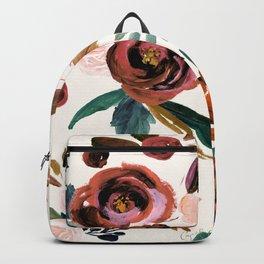 Valentina Vintage Rust Rose Backpack
