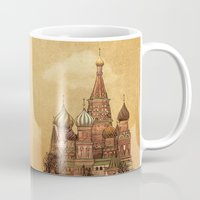 depeche mode Mugs featuring Trip to Moscow by Terry Fan
