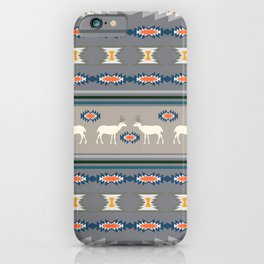 Decorative Christmas pattern with deer iPhone Case