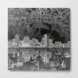 baltimore city skyline abstract 3 Metal Print